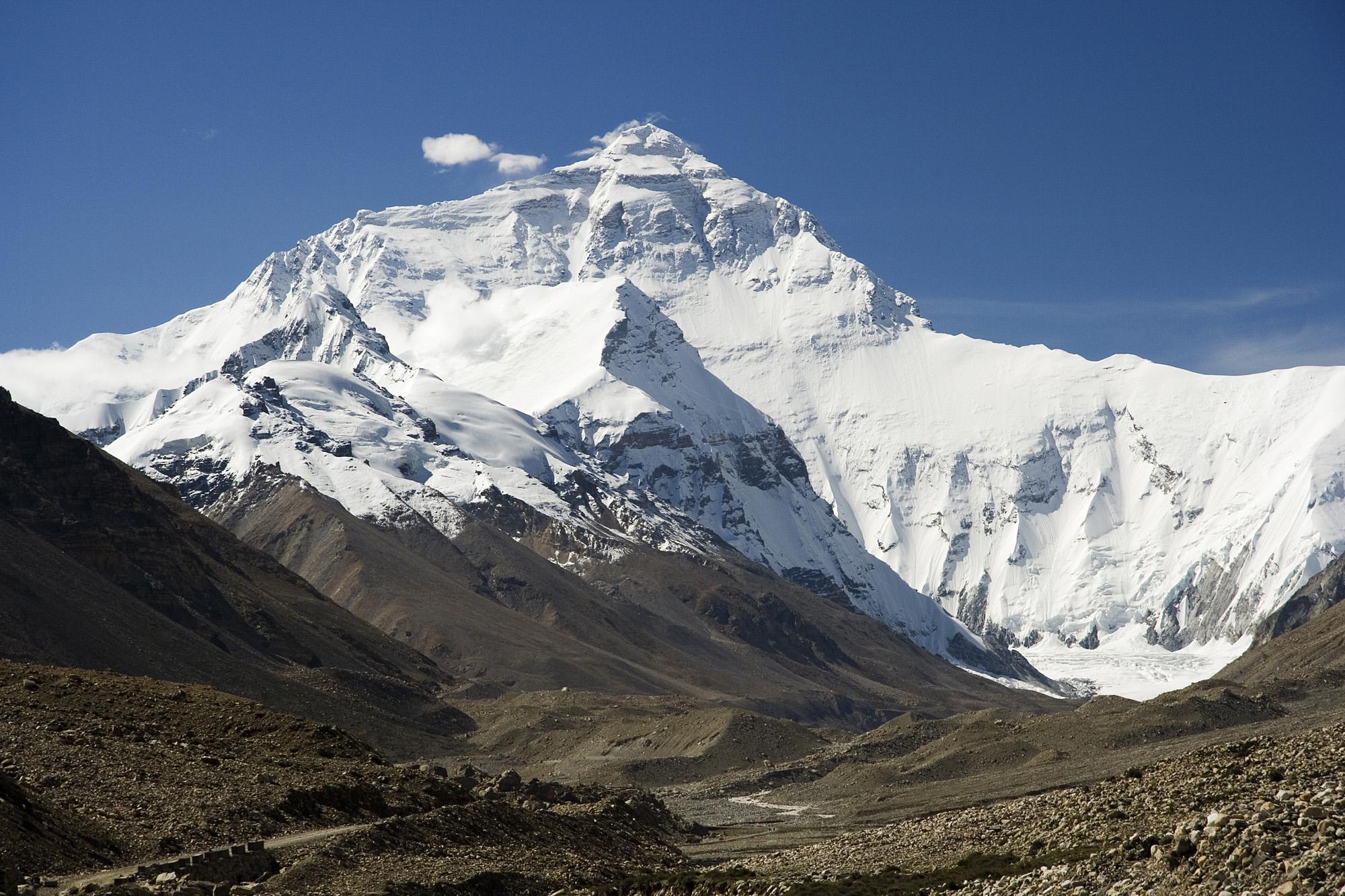 Höchster berg asiens, zugleich der höchste berg der erde: der mount