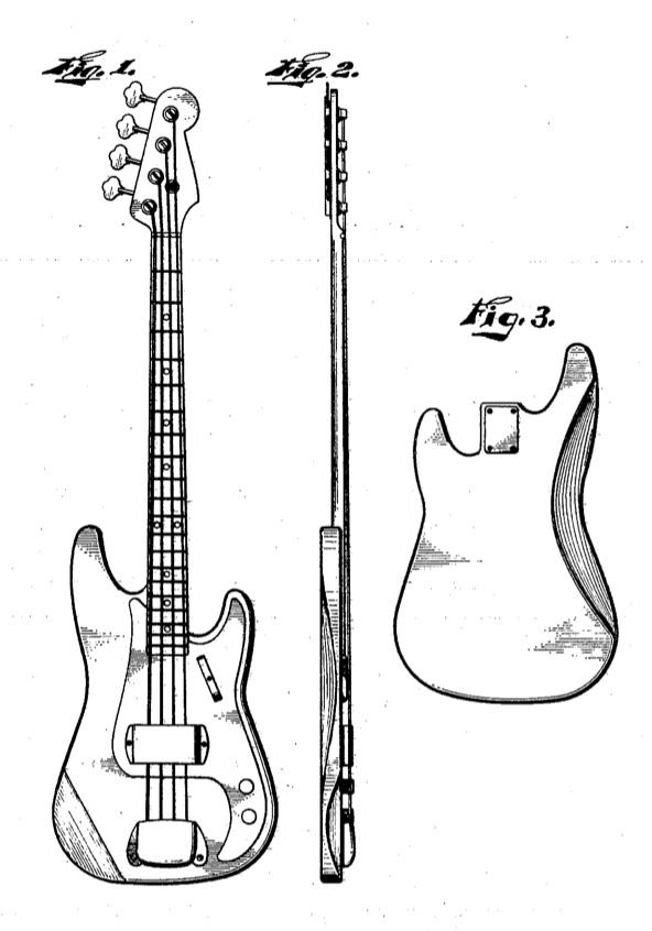 Guitar Fender Drawing Fender Jazz Bass Guitar