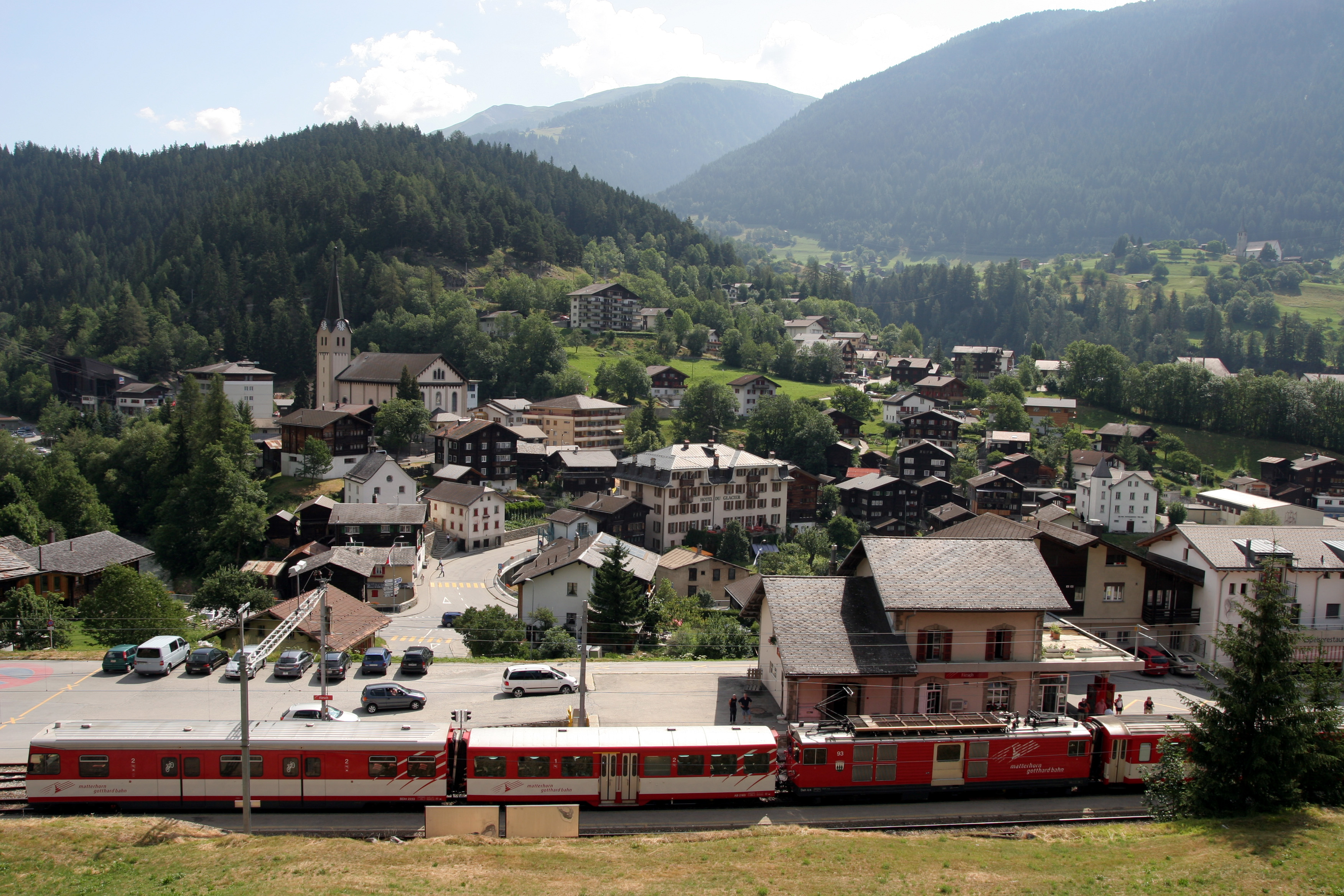 Fiesch Switzerland  city photo : Bahnhof