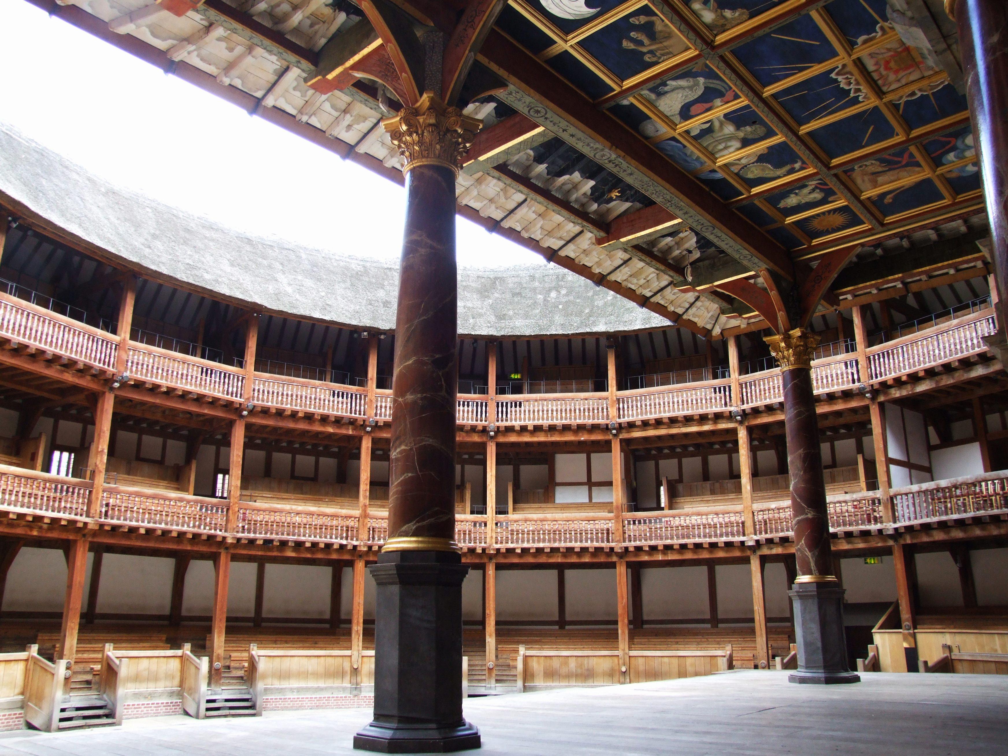 Globe theatre model template for Theatre model