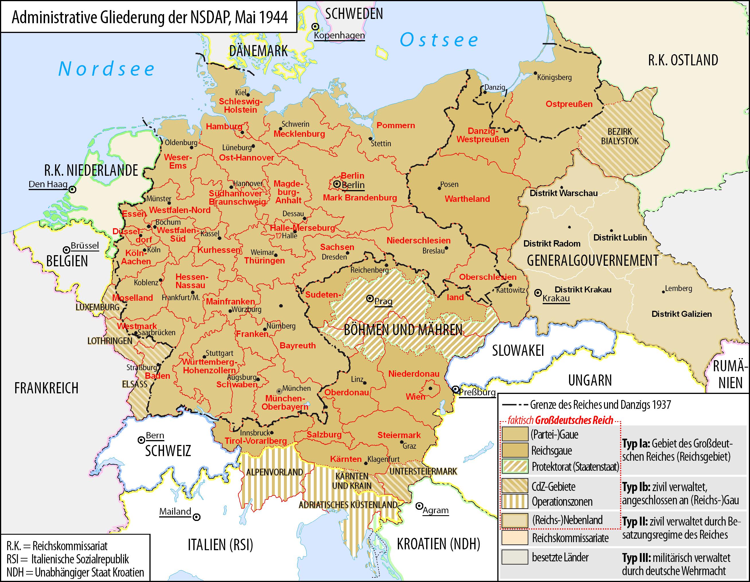 Deutsches Reich 1933 bis 1945