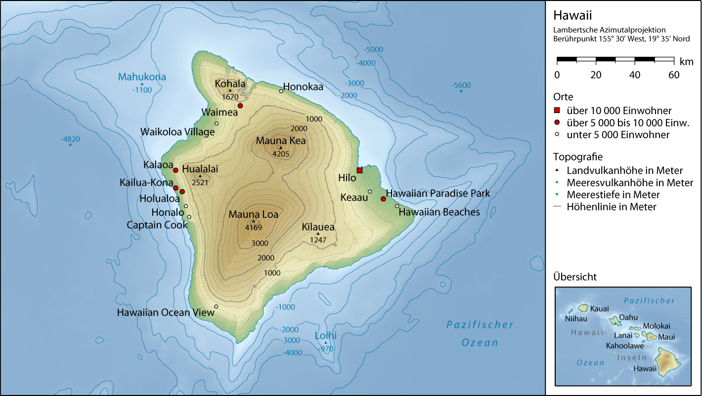 Big Island Topographic Map