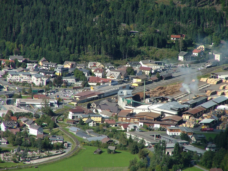 Hermagor Austria  City pictures : Dieses Bild zeigt den zentralen Teil Hermagors von oben