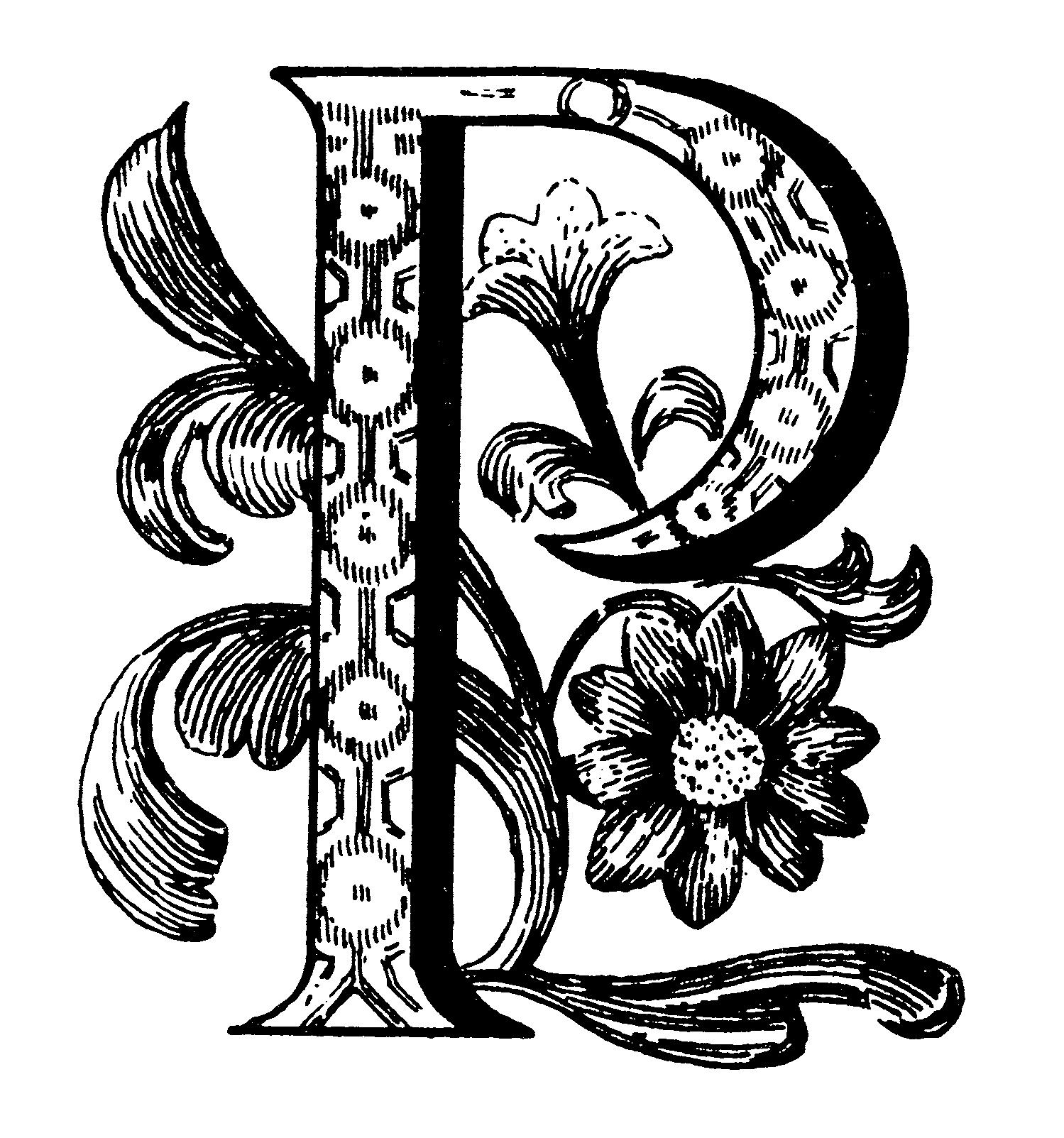 Art Nouveau Capital Letters