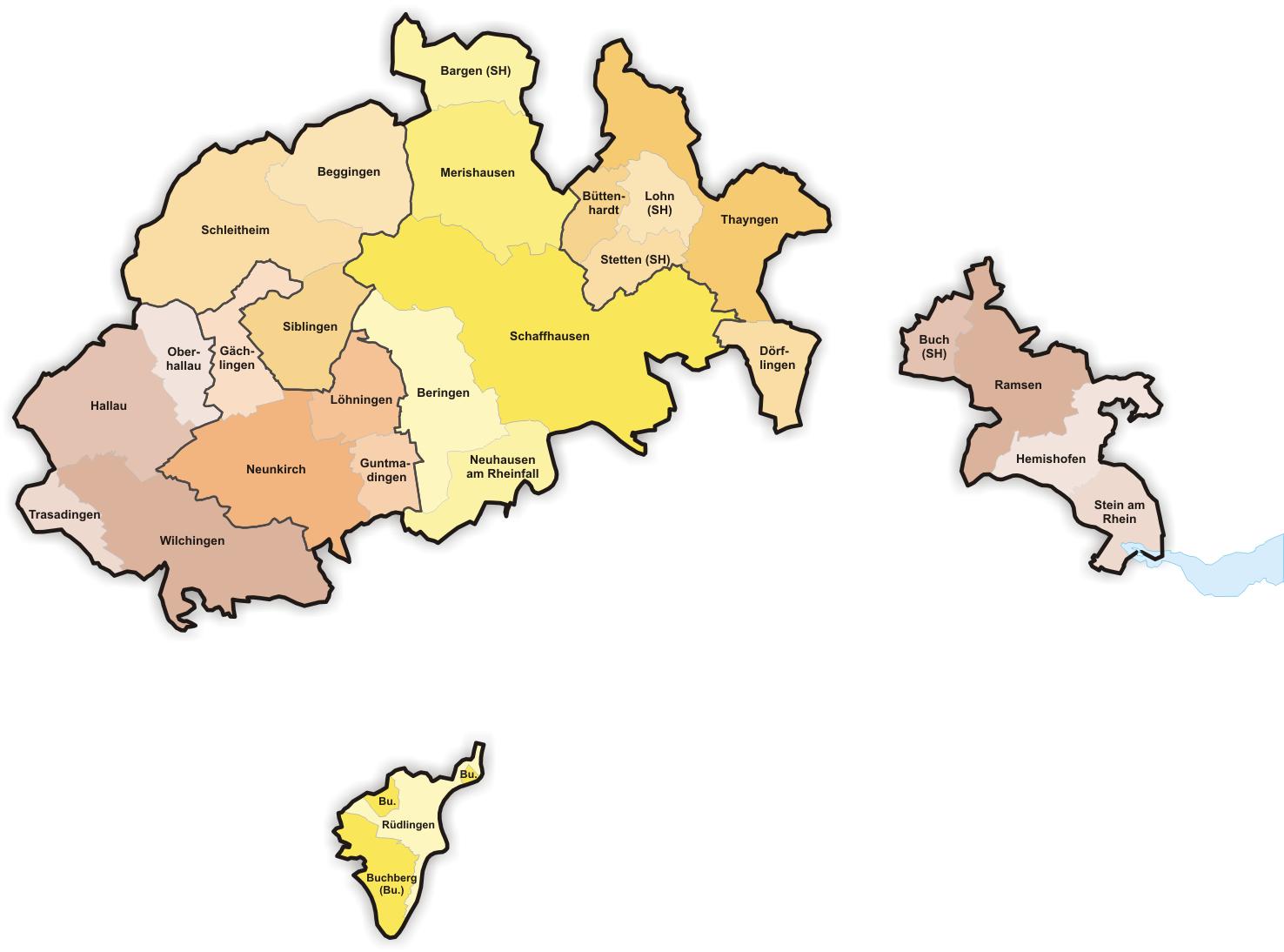 schaffhausen karte