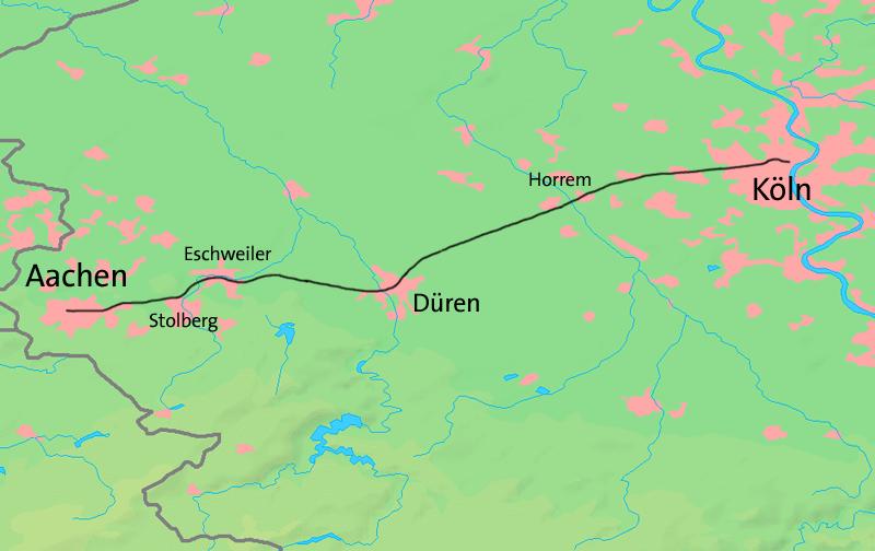 Strecke Köln