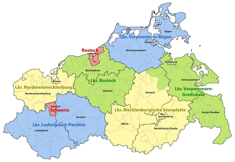 Kreisgebietsreform Mecklenburg-Vorpommern 2011