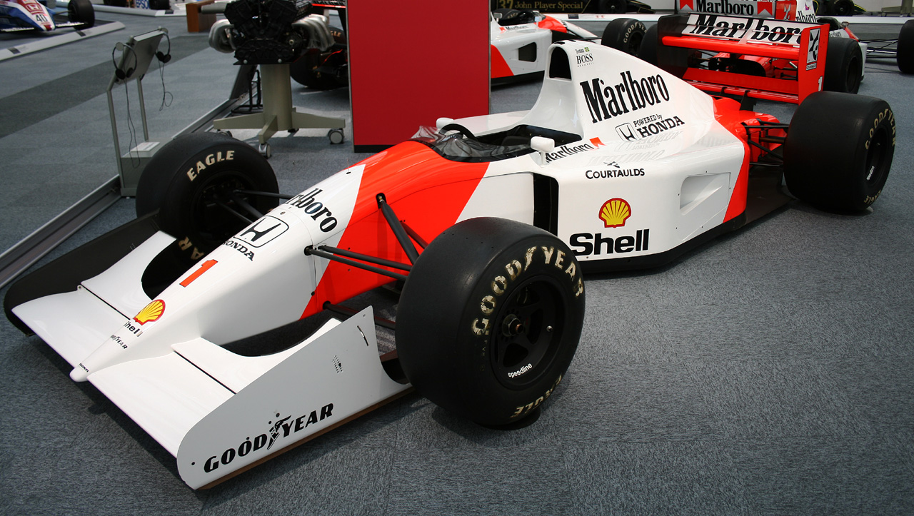 With this car, Ayrton Senna