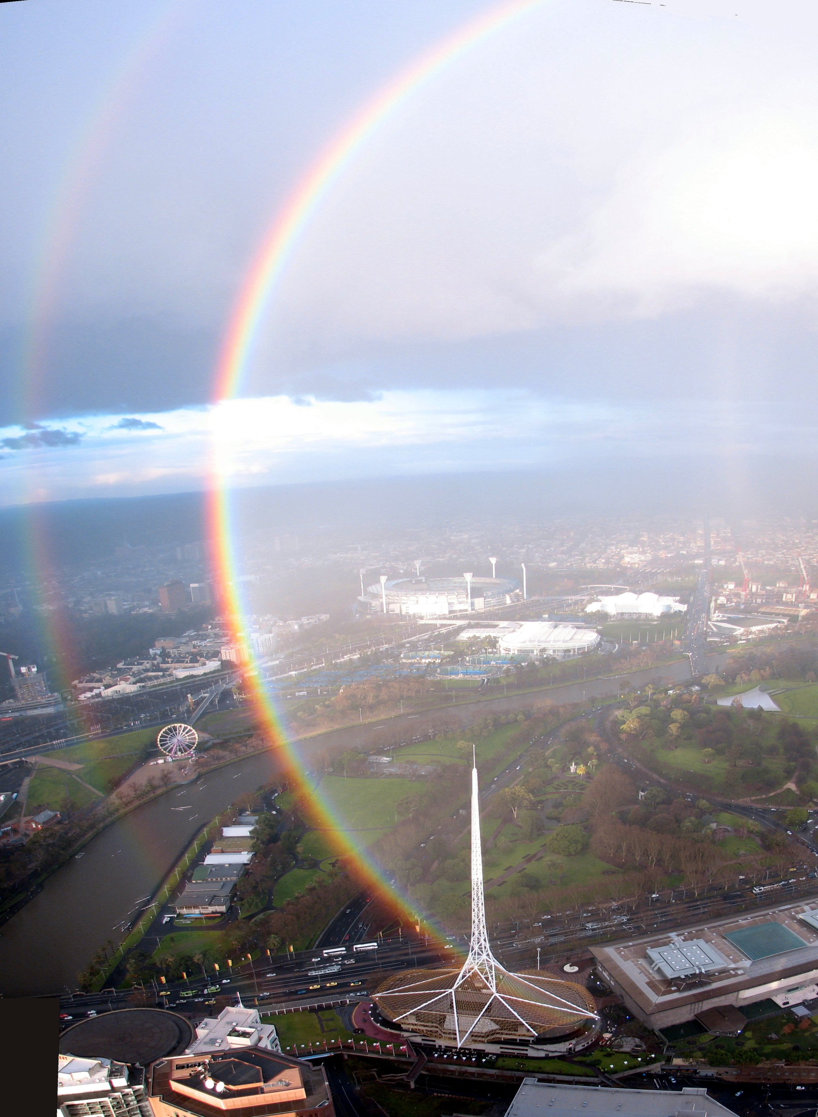 Regenbogen Flugzeug