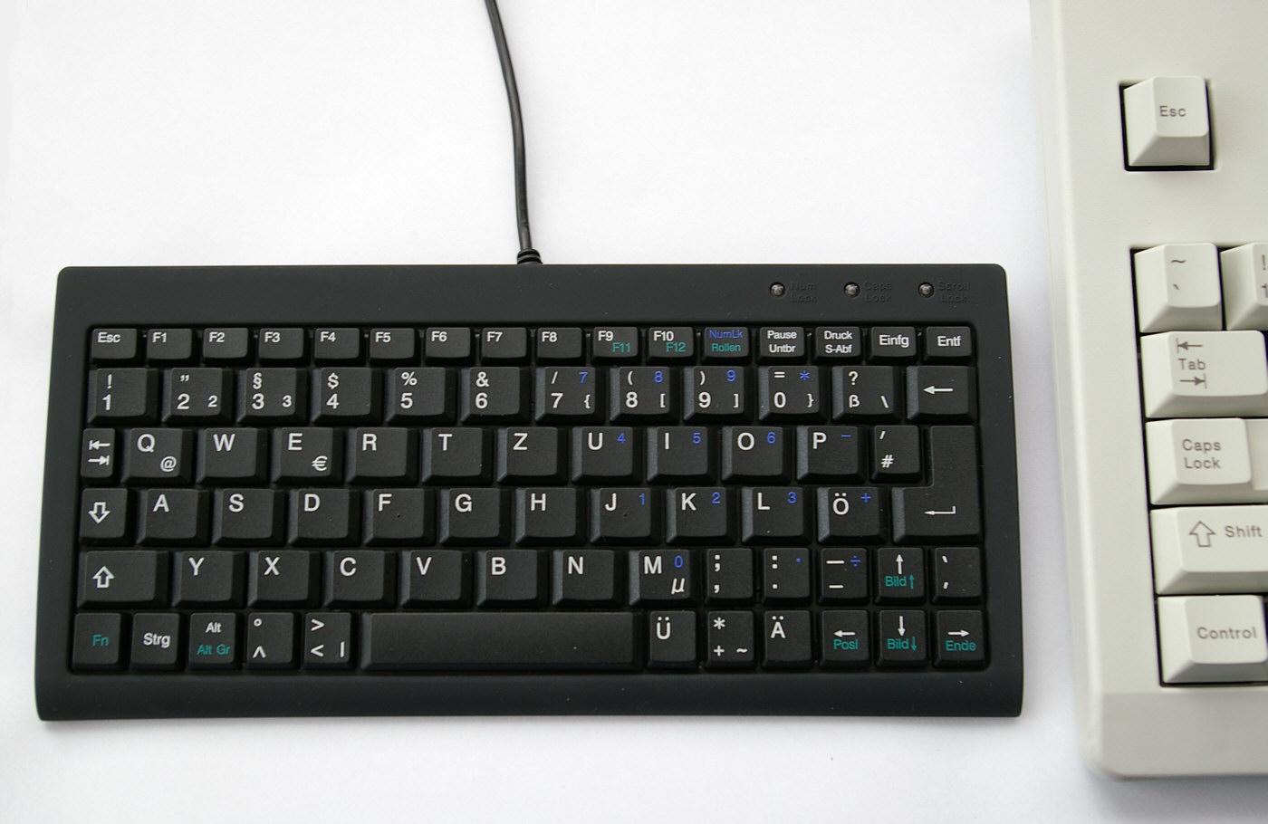 Miniaturtastatur gedacht für den mobilen einsatz