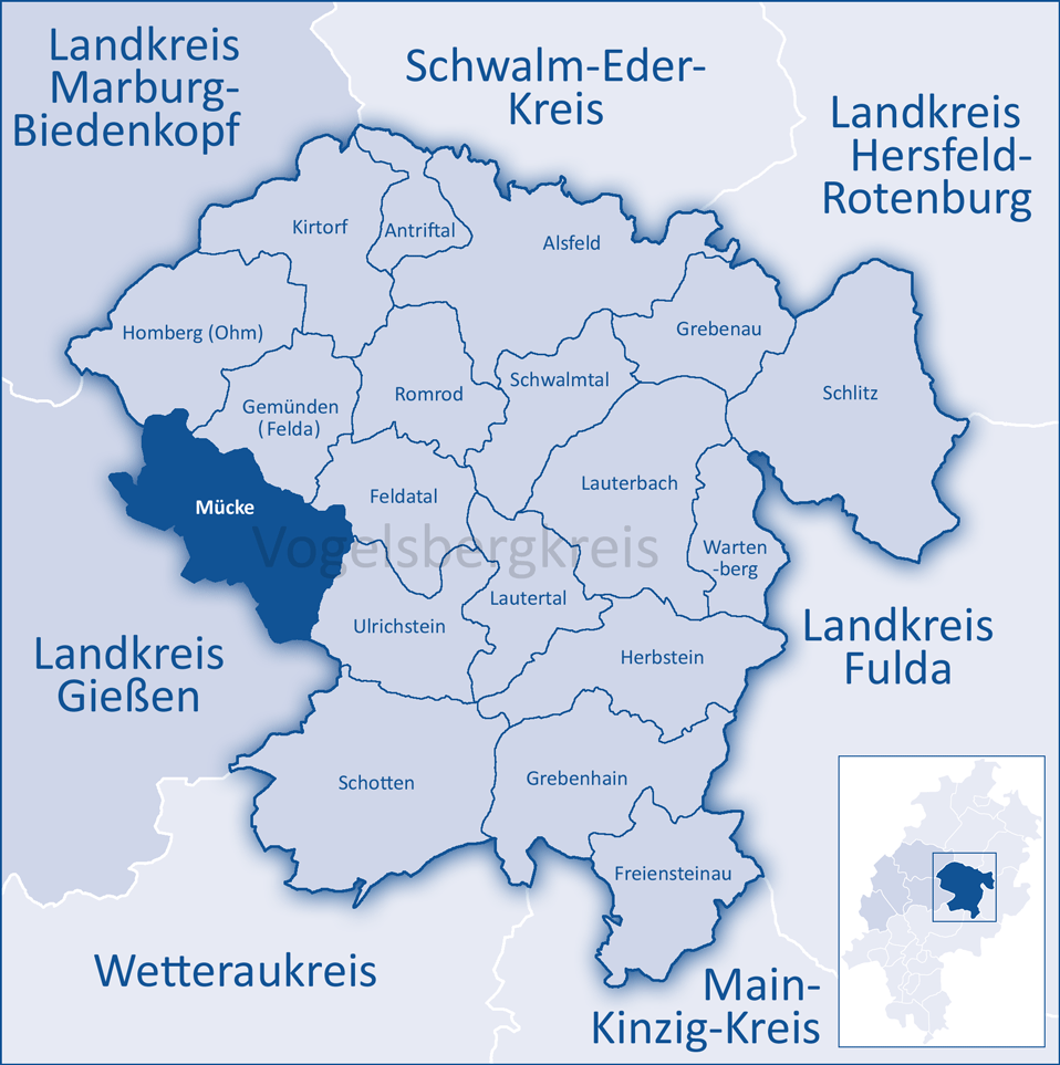 Landkreis Gießen Karte