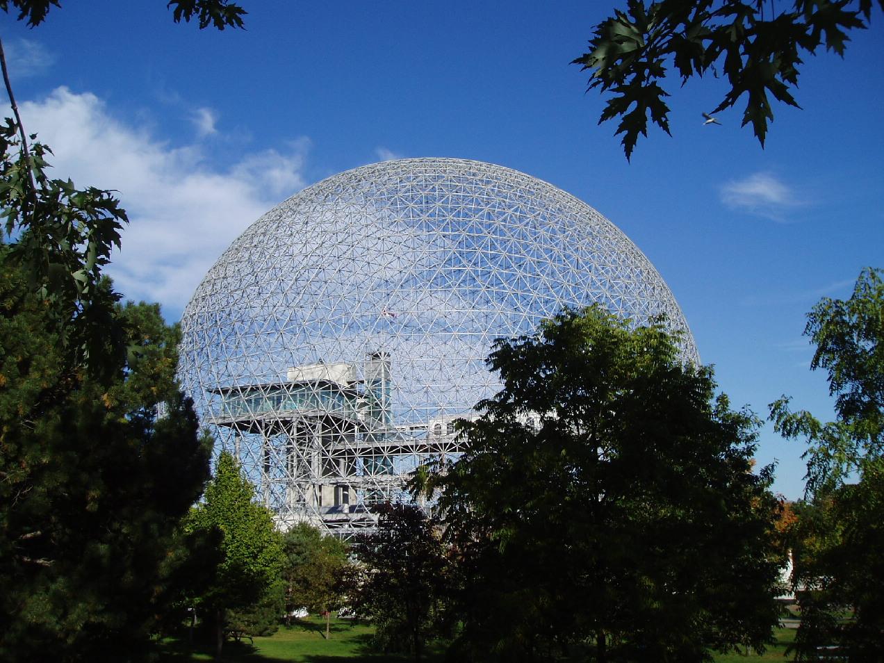 Eine geodätische kuppel die biosphère ile ste hélène montreal
