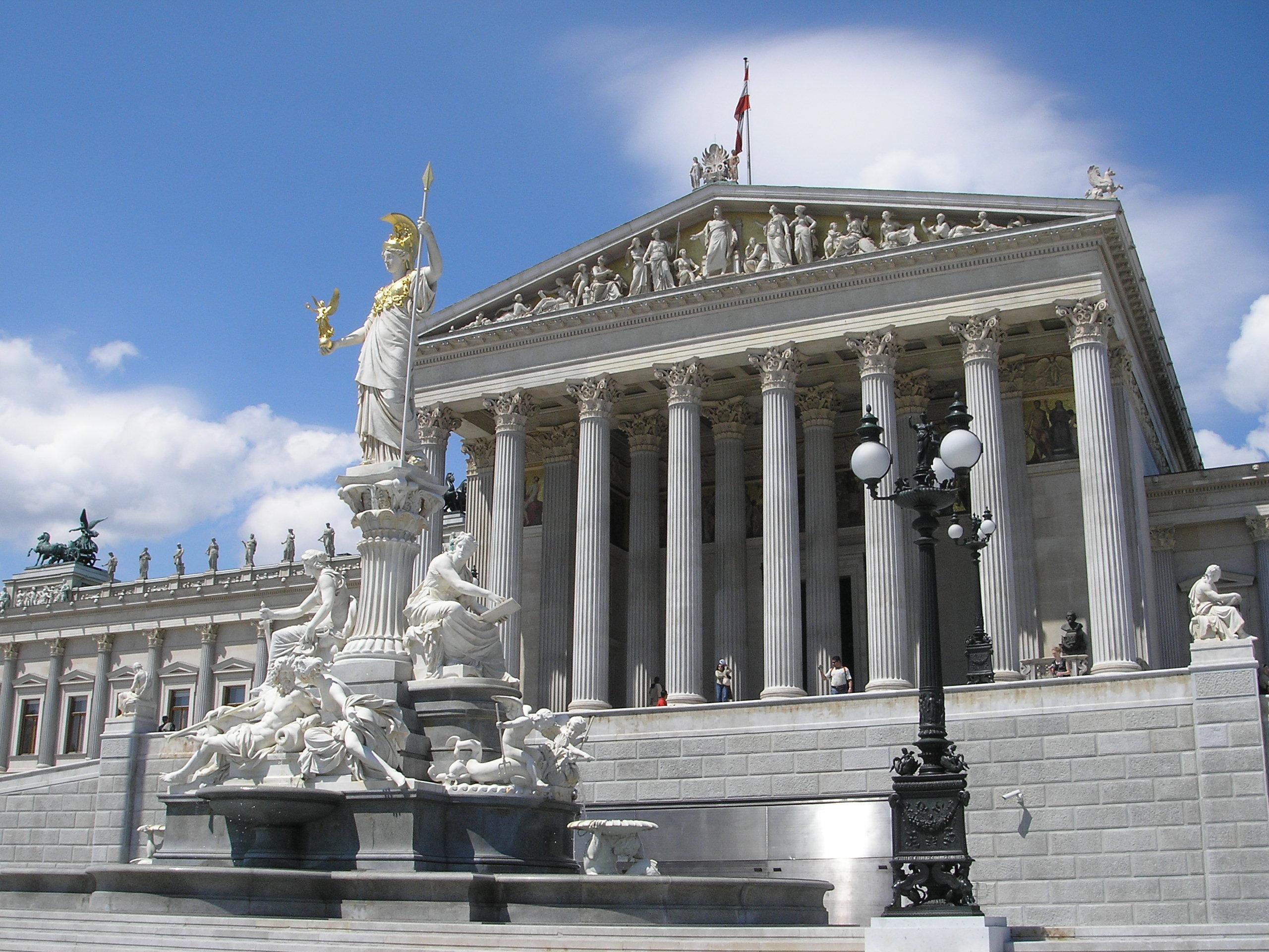 Sterreichisches parlament for Architektur romantik
