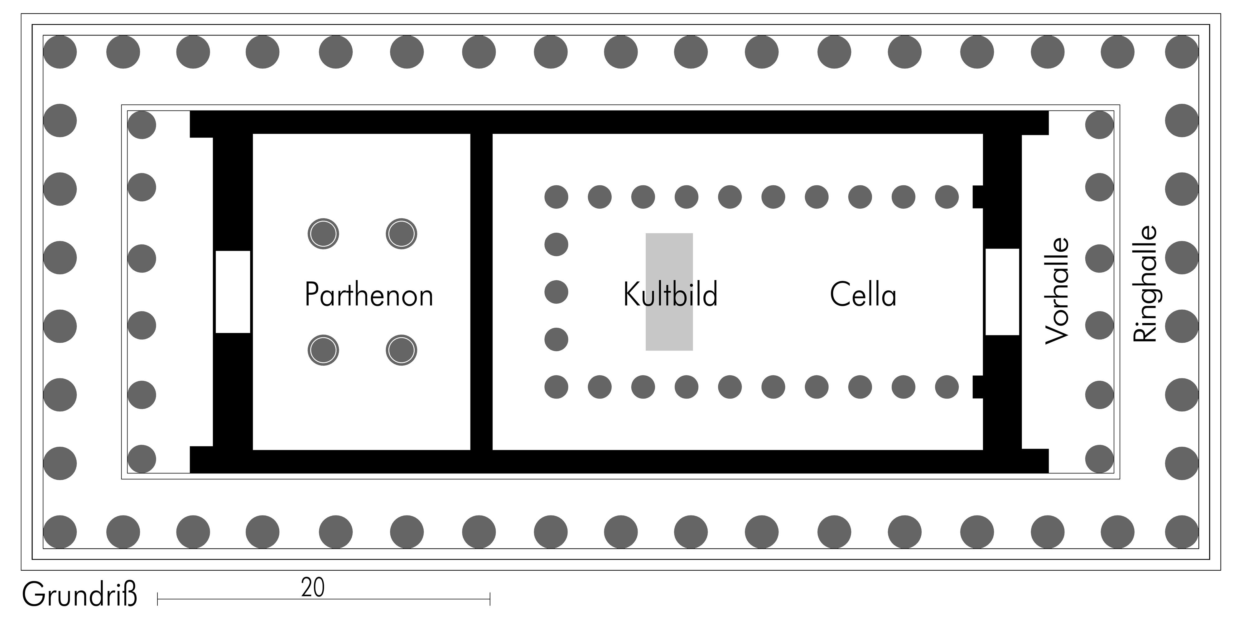 Pantheon Floor Plan Parthenon