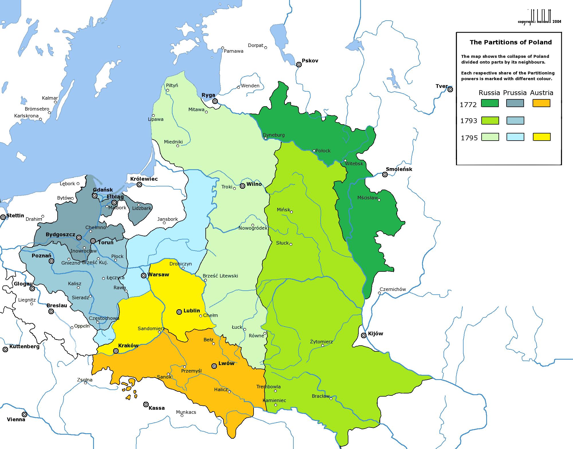 Die 3 polnischen teilungen im 18 jahrhundert