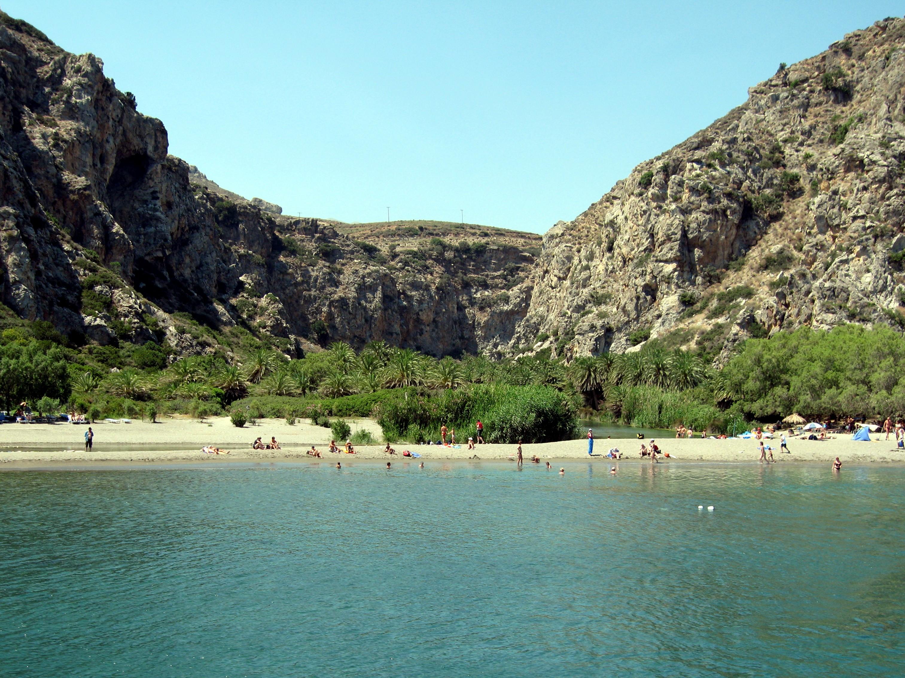Крит пляж превели пальмы фото