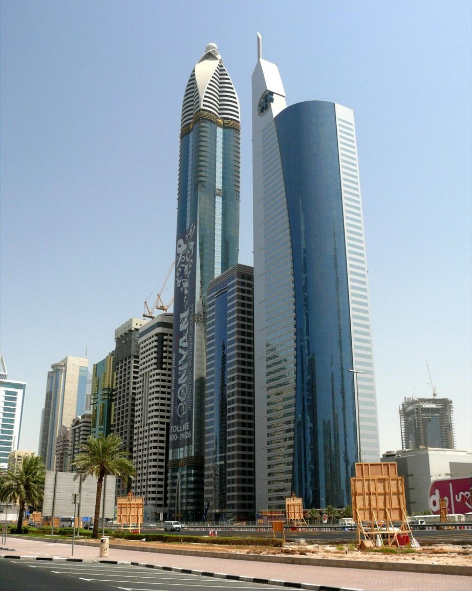 """TOUR """" INCITY """" - 200 m - Page 6 Rose_Rotana_Tower_and_21st_Century_Tower_on_14_September_2007"""