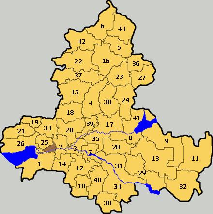 В состав Ростовской области входят 463 муниципальных образования, в том числе.  12 городских округов, * 43...