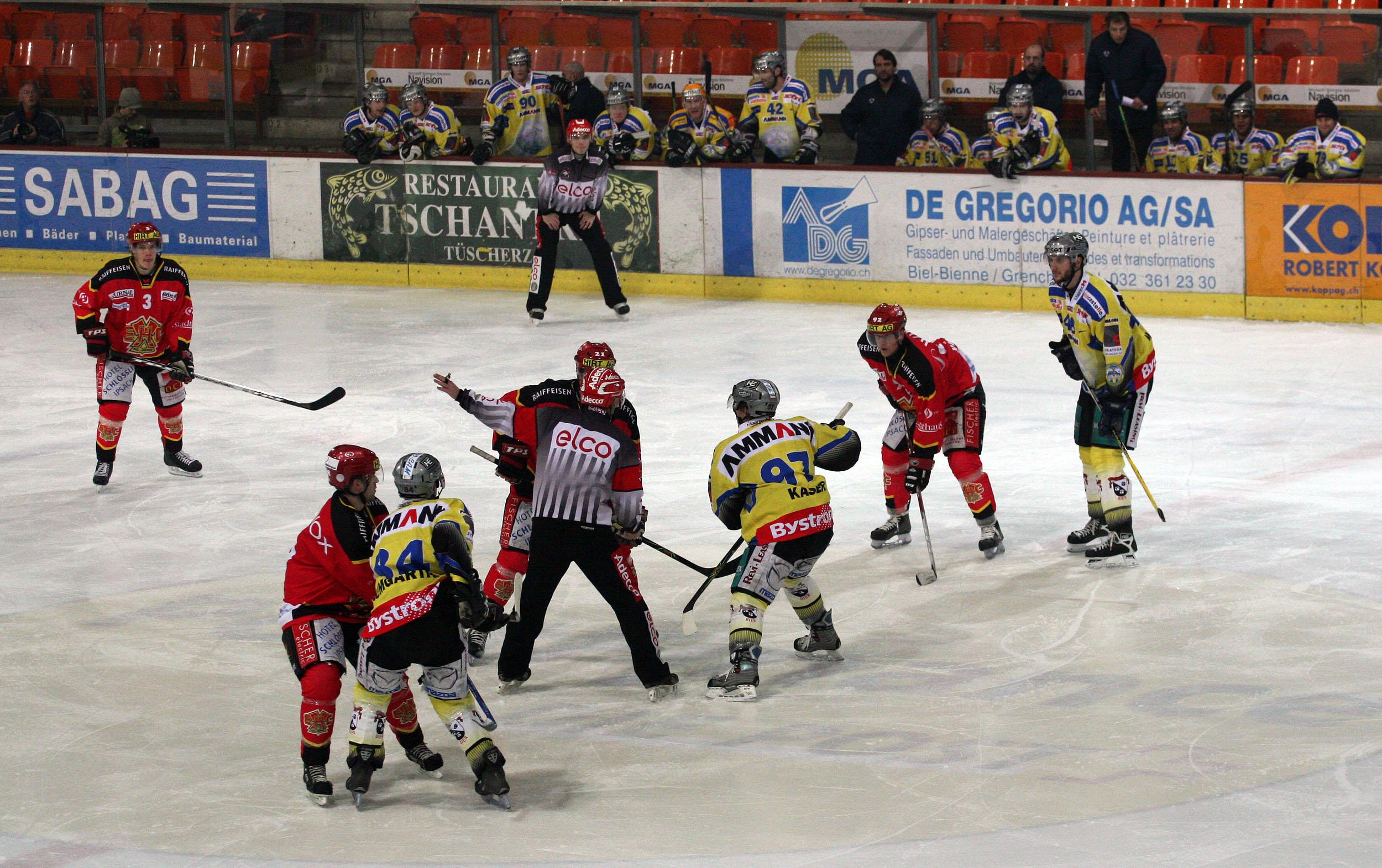 Anspiel Im Eishockey