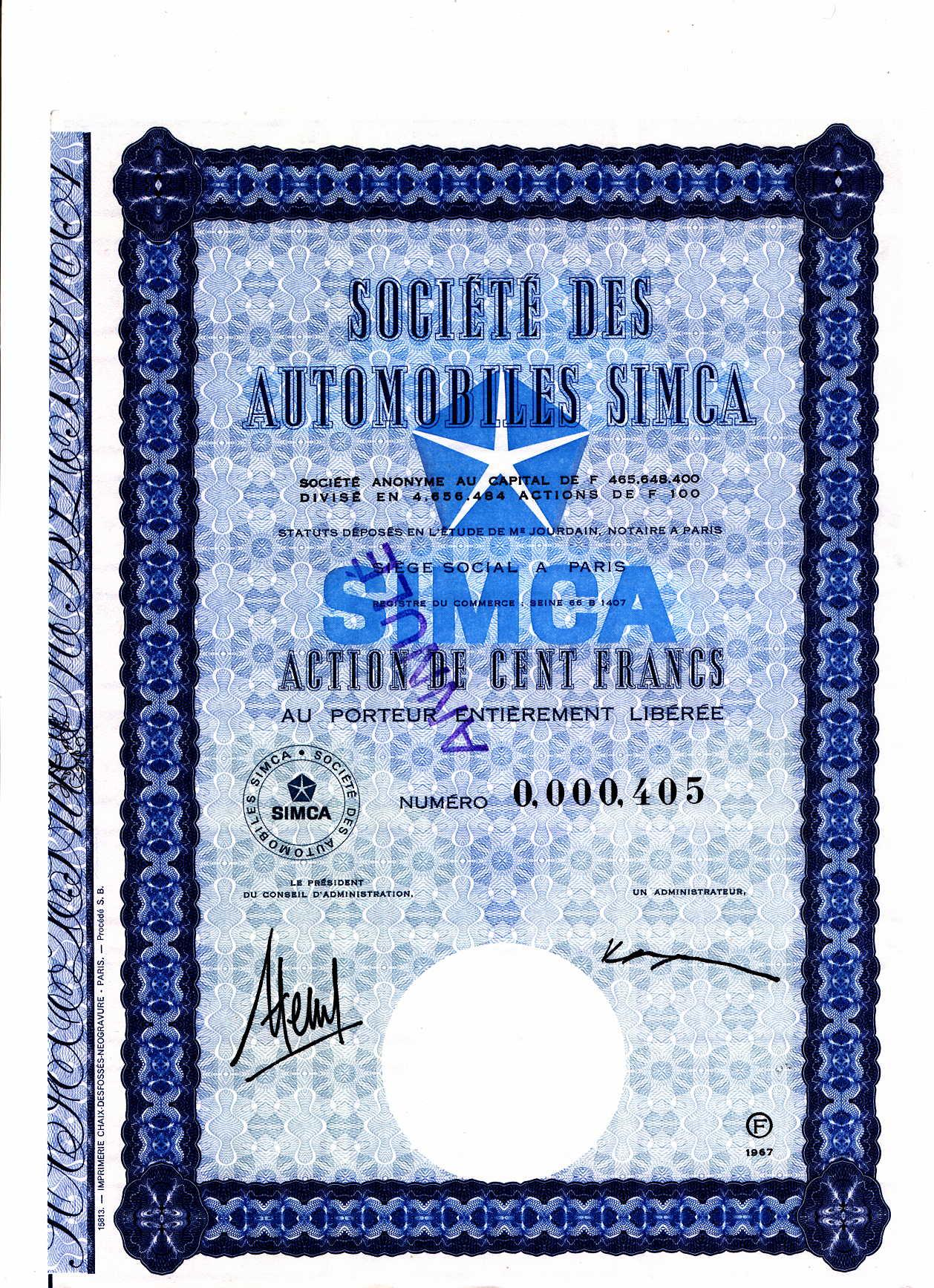 Simca-Aktie