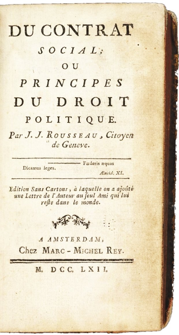 on rousseaus social contract Section 003 in 1762, jean-jacques rousseau wrote the social contract, where he believed in the popular sovereignty form of government that is, the government should be ruled by the people in his time, it would have been difficult to implement his form of government on an individual basis.