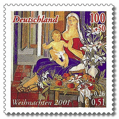 briefmarken jahrgang 2001 der bundesrepublik deutschland. Black Bedroom Furniture Sets. Home Design Ideas