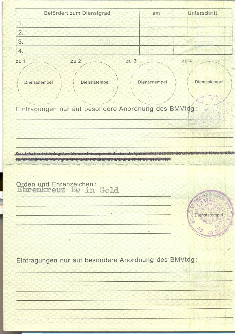 Ausweis Für Reservisten