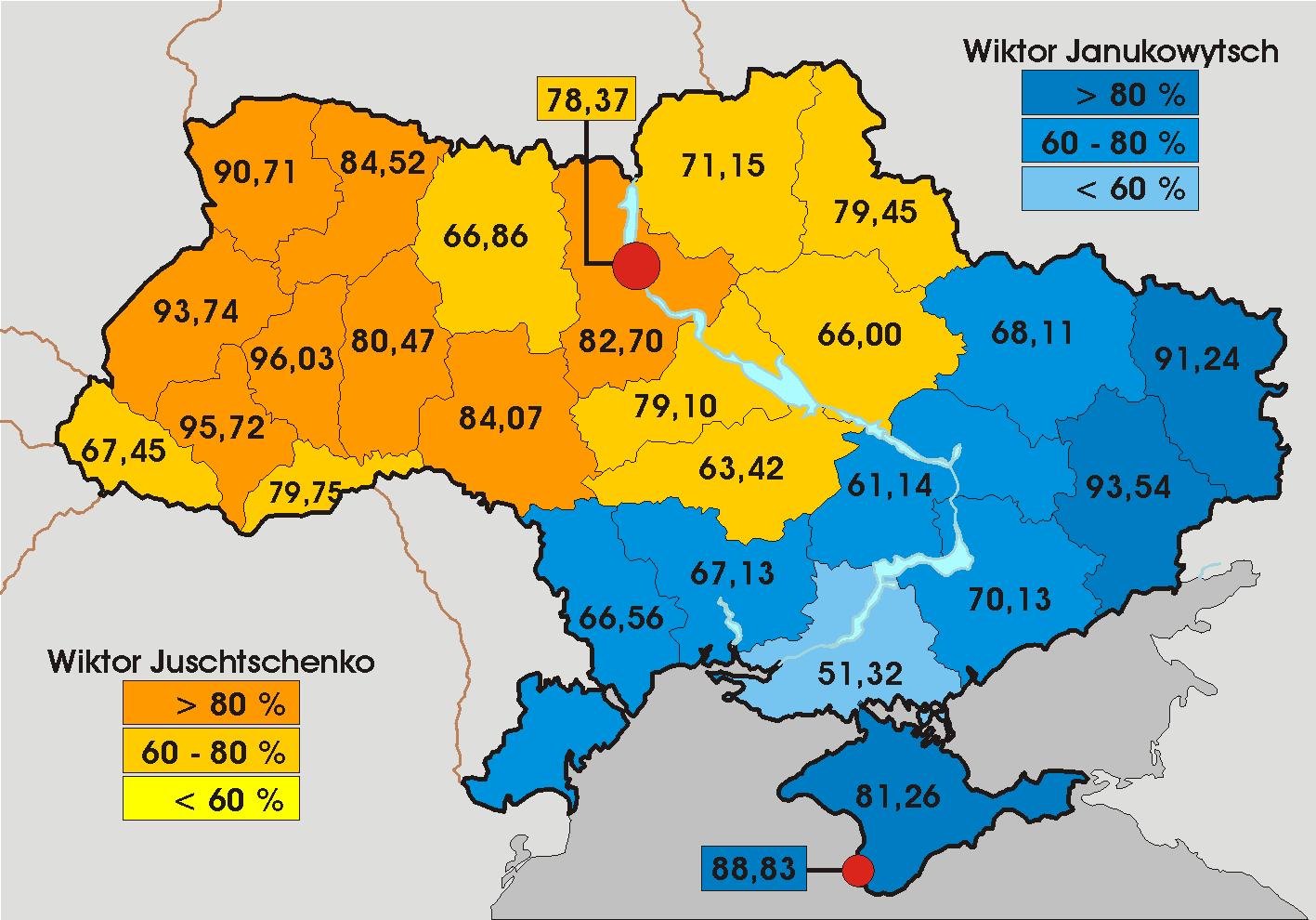 Zweite stichwahl 2004 die russischsprachige ostukraine wählte
