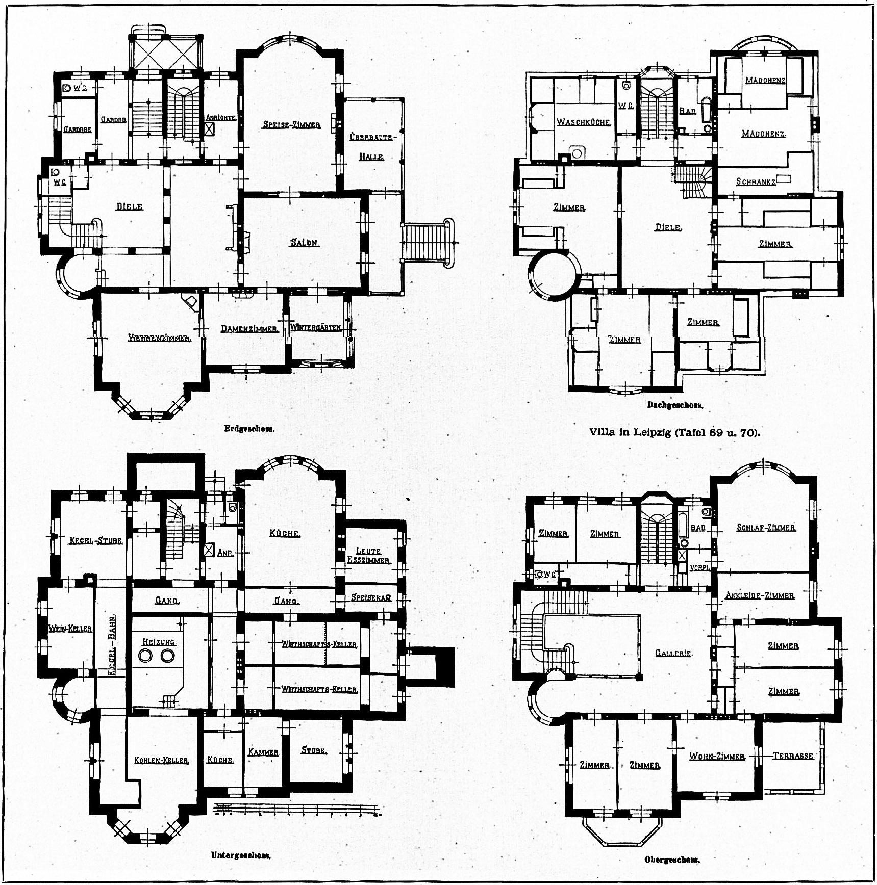 Liste historischer villen in leipzig for Grundriss luxushaus