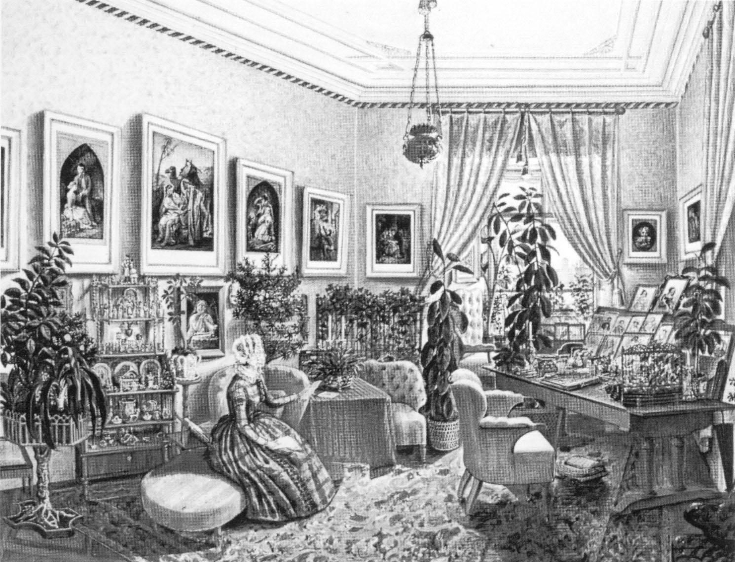 Kunstblatt for Wohnzimmer 19 jahrhundert