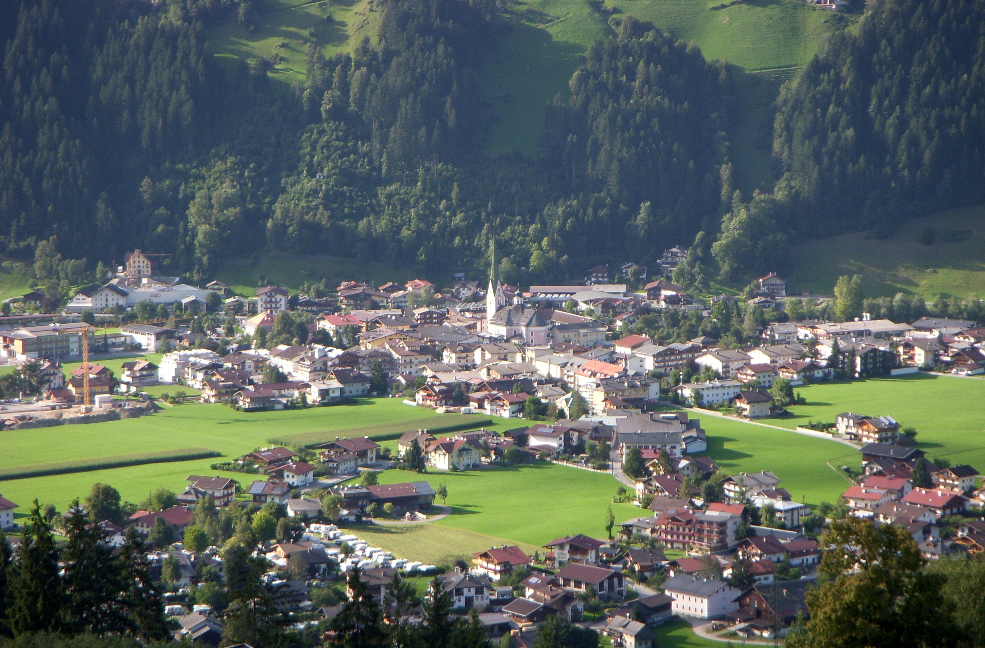 Zell am Ziller Austria  city pictures gallery : Zell am Ziller im September 2008, Blick vom Hainzenberg