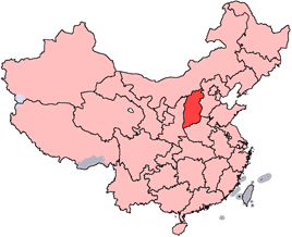 Lage von Shānxī Shěng in China