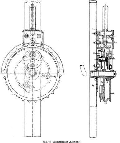 Abb. 73. Vorläuteapparat »Kleeblatt«.