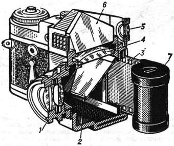 Схема устройства однообъективного зеркального. объектива. типа...