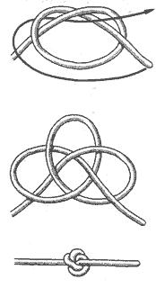 Это тоже рабочий узел-стопор, который с успехом может быть применен в морском деле.